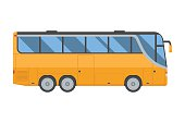 Yellow Shuttle Bus