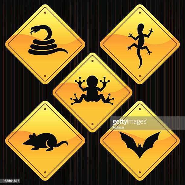 Yellow Signs - Animals