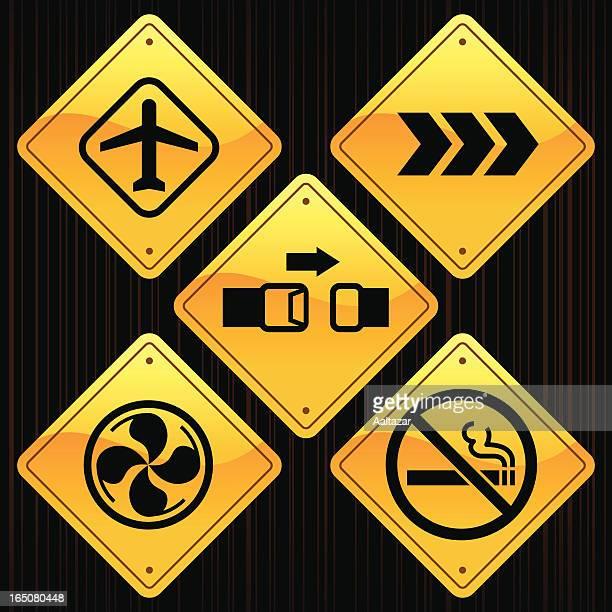 Yellow Signs - Plane Travel