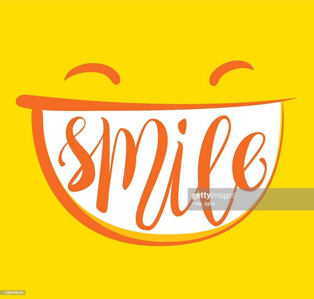 Yellow smile poster.