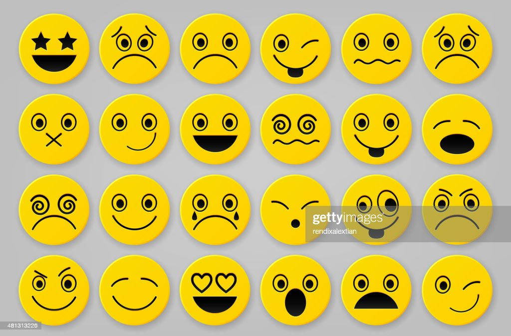 Yellow smiley icon sets