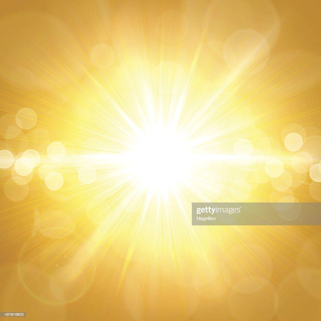 Amarillo fondo de verano : Ilustración de stock