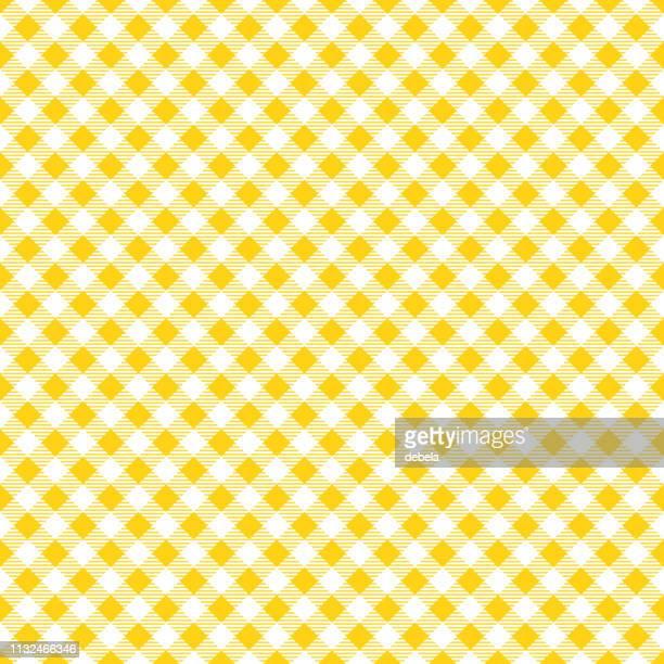 黄色いテーブルクロスアーガイル柄の背景 - ギンガムチェック点のイラスト素材/クリップアート素材/マンガ素材/アイコン素材