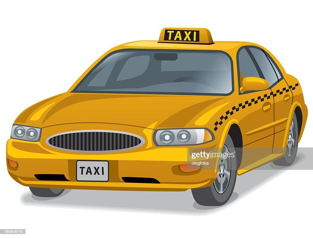 yellow taxi car