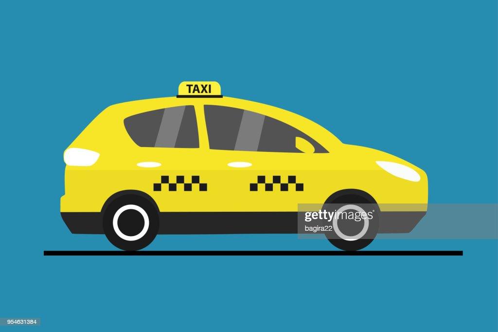 Yellow taxi car,city transport,Œ
