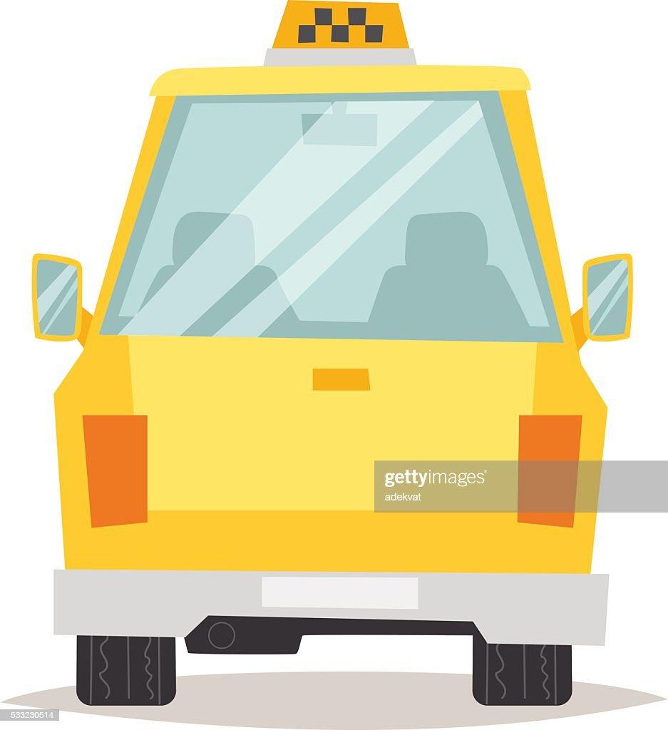 Yellow taxi vector illustration