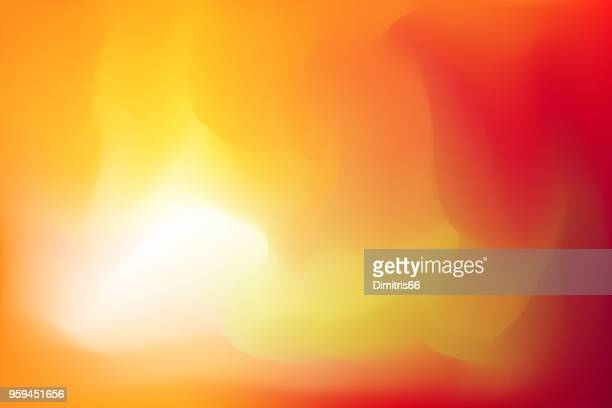 yellow to red abstract background - saturated color stock illustrations