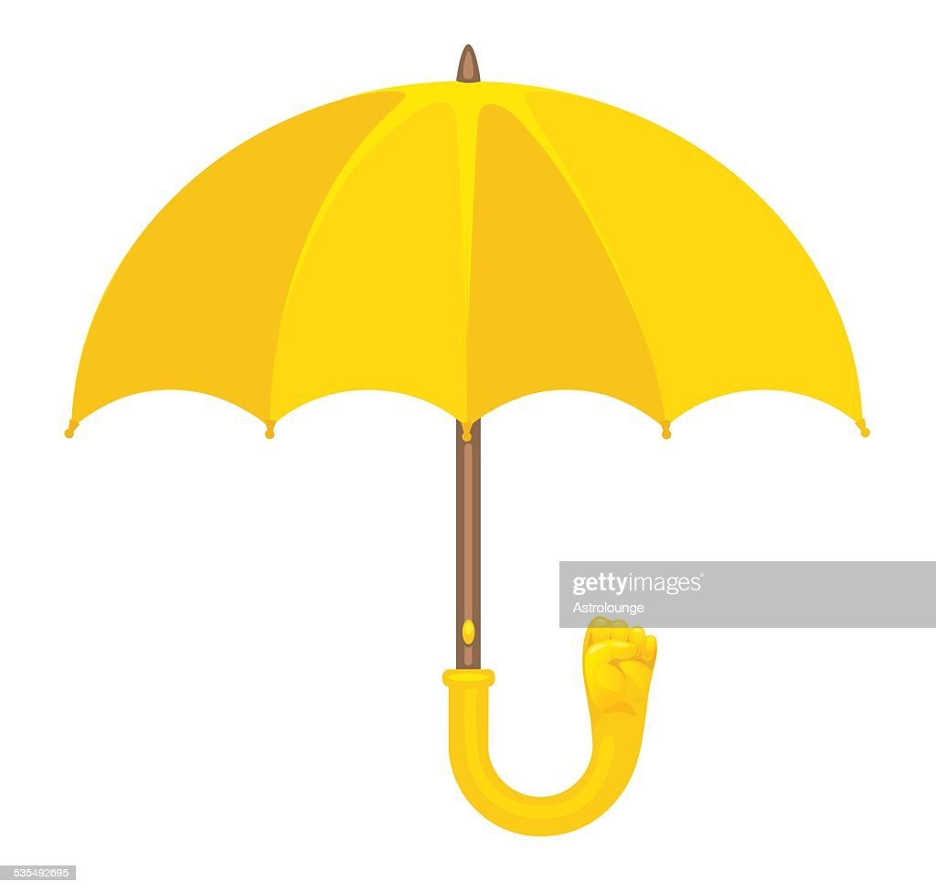 Yellow Umbrella with Fist