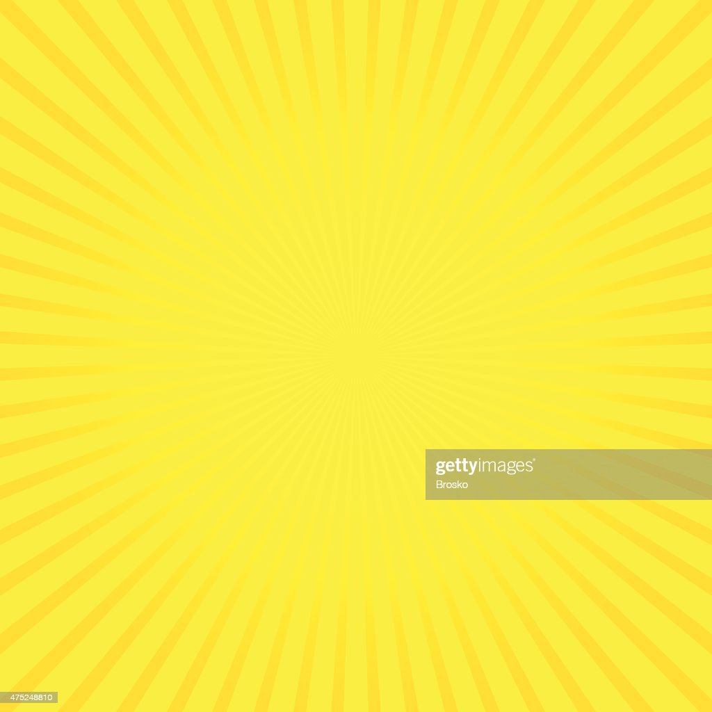 Yellow vector background of radial lines.