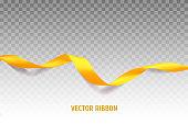 Yellow vector ribbon