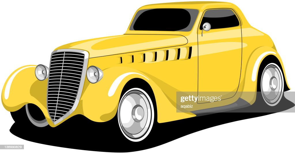 Yellow Vintage Car .