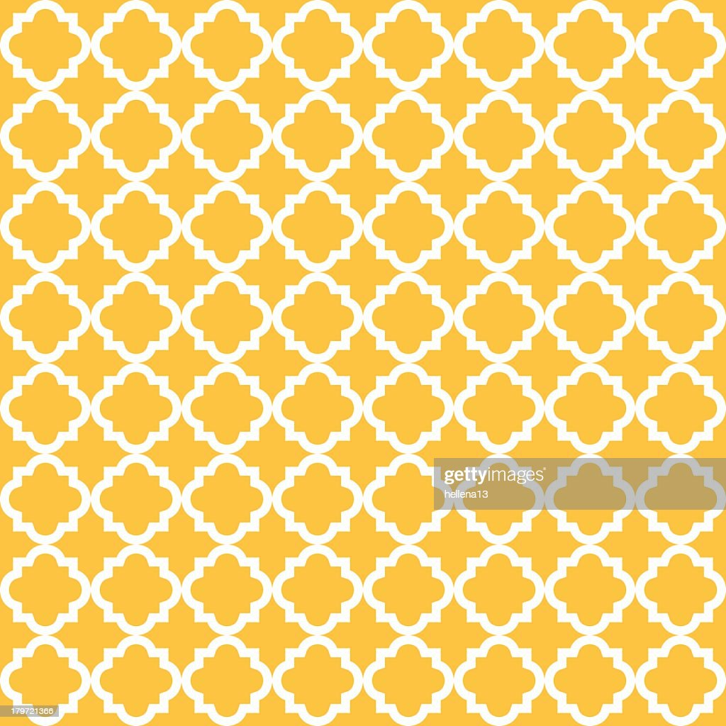 Yellow vintage seamless pattern background with white line