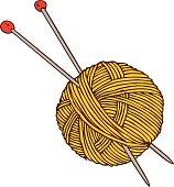 Yellow Yarn Ball and Needles