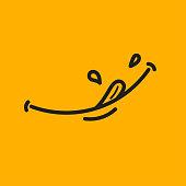yellow yum sticker