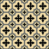 Yellow-Black spanish pattern
