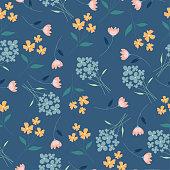 yellow,blue and pink seamless pattern