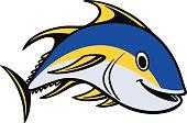 Yellowfin Tuna Swimming