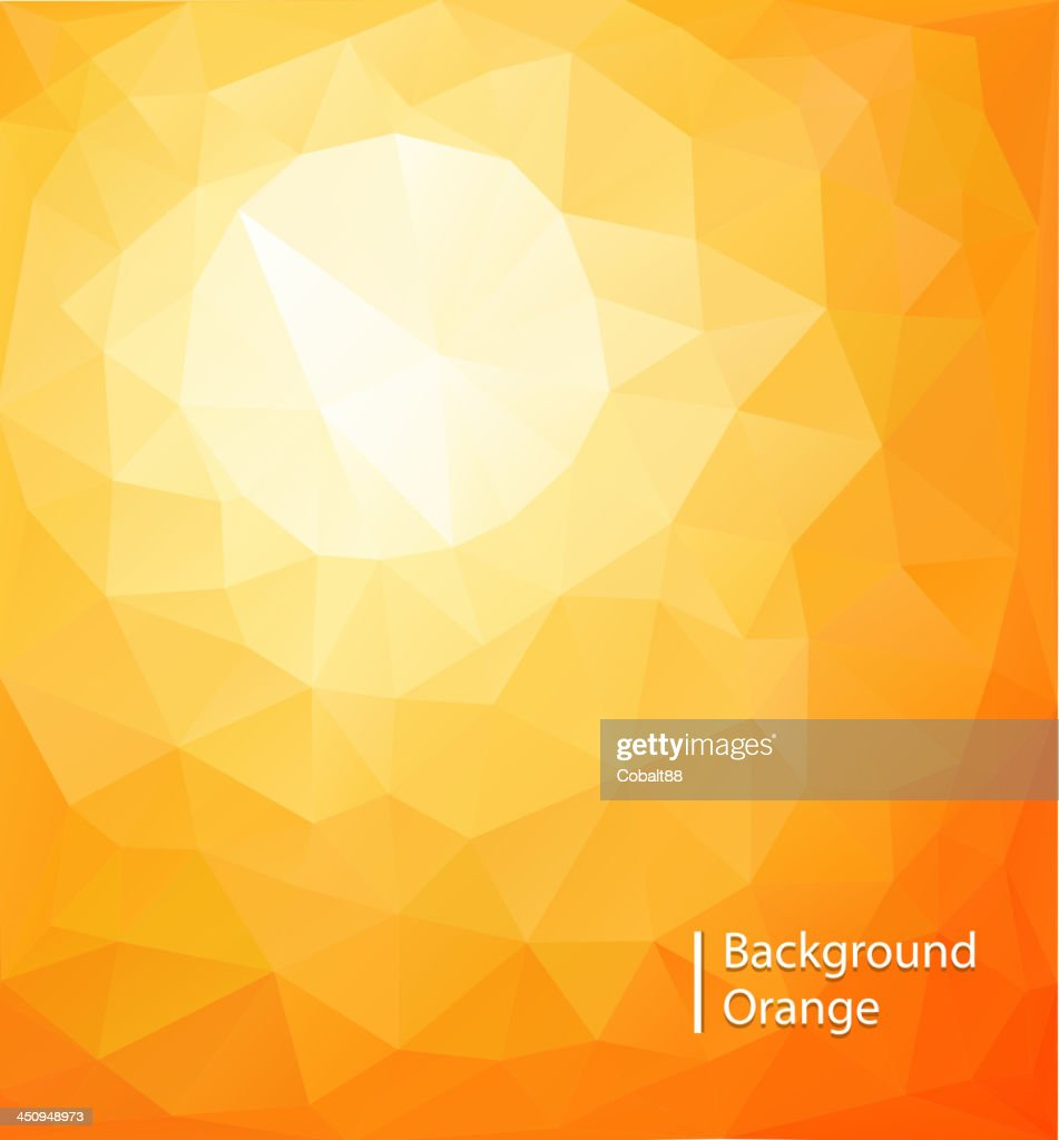 Yellow-orange colored geometric pattern background