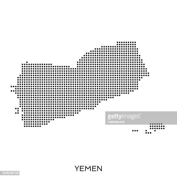 yemen dot halftone pattern map - yemen stock illustrations, clip art, cartoons, & icons