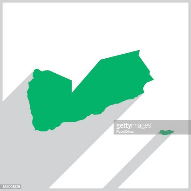 yemen green map icon - yemen stock illustrations, clip art, cartoons, & icons