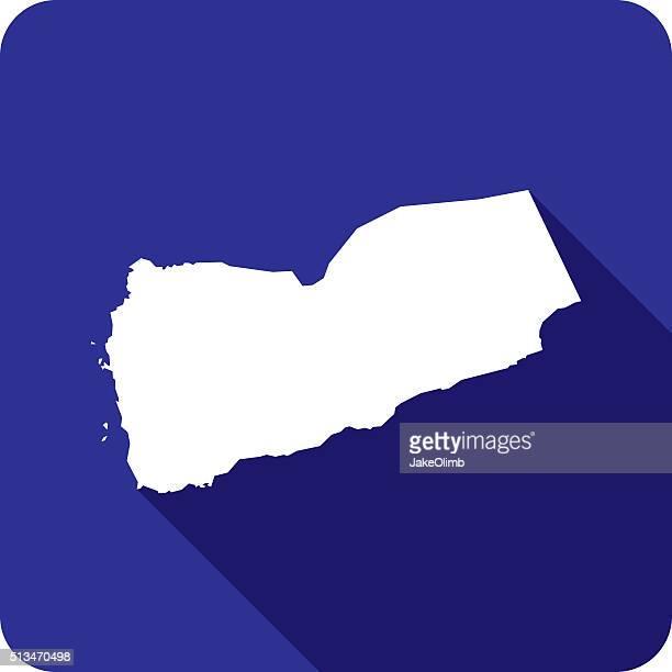 yemen icon silhouette - yemen stock illustrations, clip art, cartoons, & icons