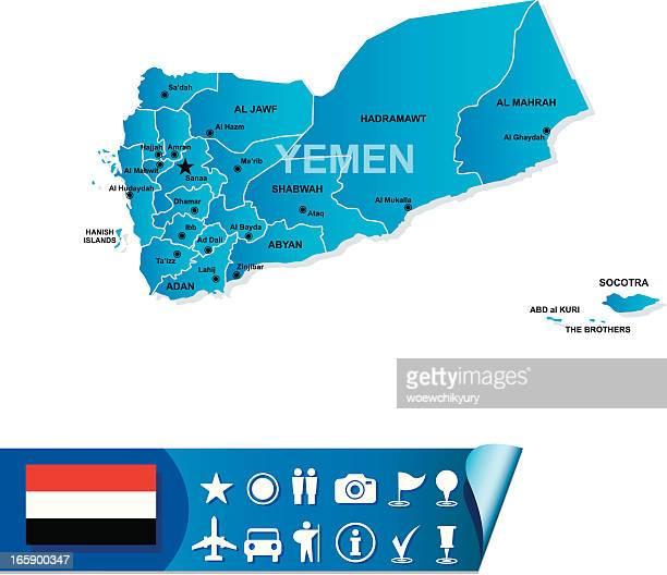 yemen map - yemen stock illustrations, clip art, cartoons, & icons