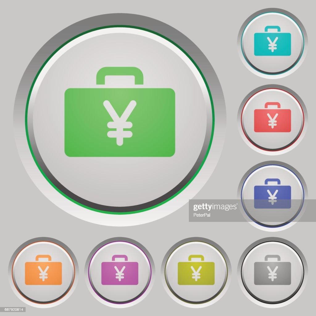 Yen bag push buttons