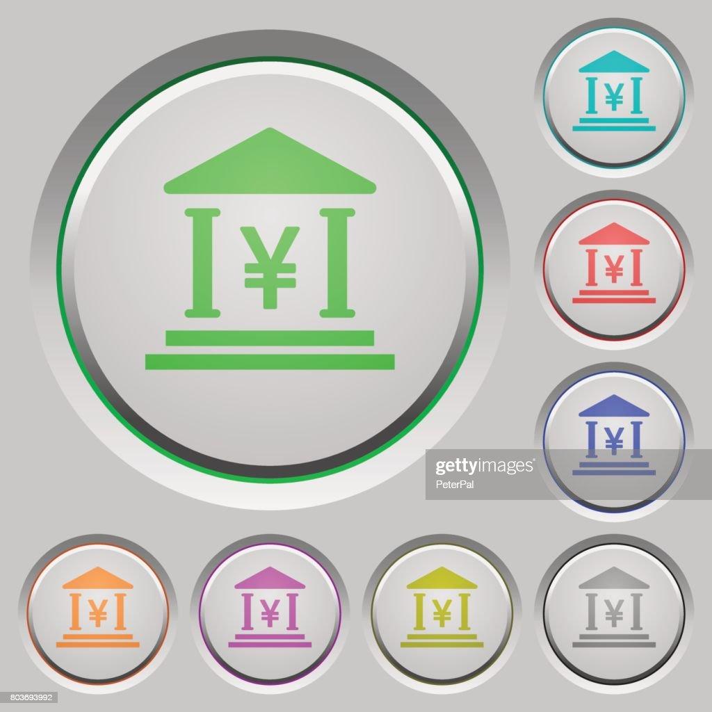 Yen bank office push buttons