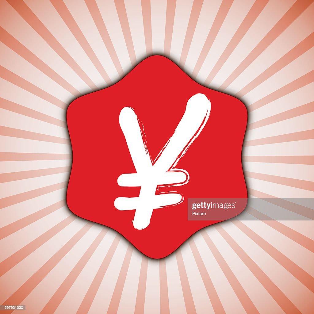 Yen Currency Japan Money Monetary Symbol Banner Japanese Sign Design