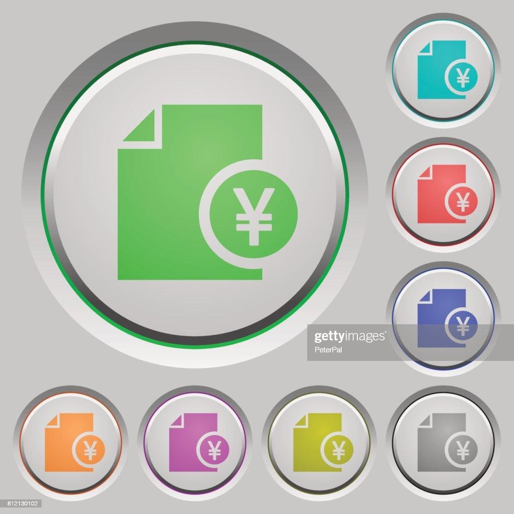 Yen financial report push buttons