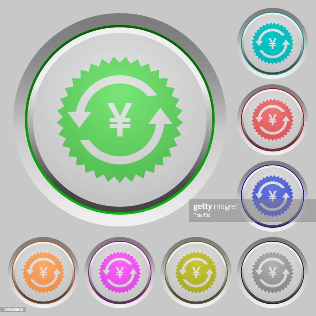 Yen pay back guarantee sticker push buttons
