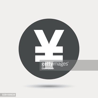 Yen Sign Icon Jpy Currency Symbol Vector Art Getty Images