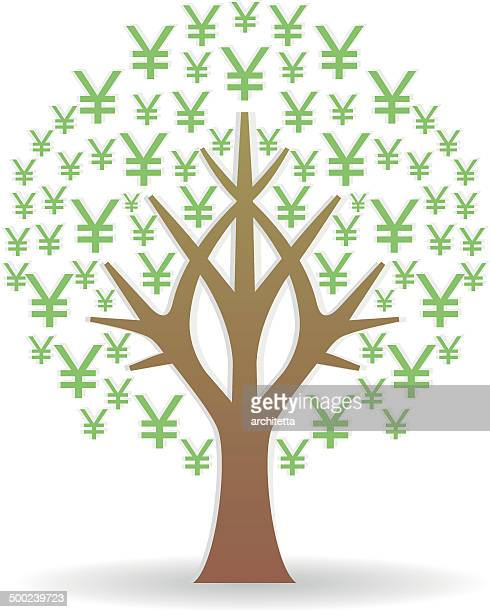yen sign tree icon