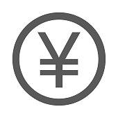 Yen symbol icon simple vector