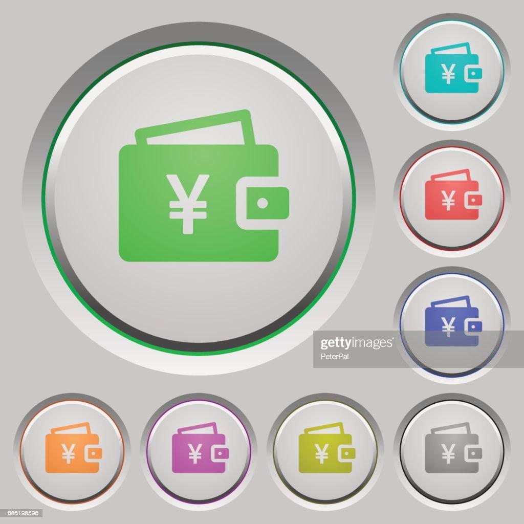 Yen wallet push buttons