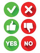 Yes and No Icons