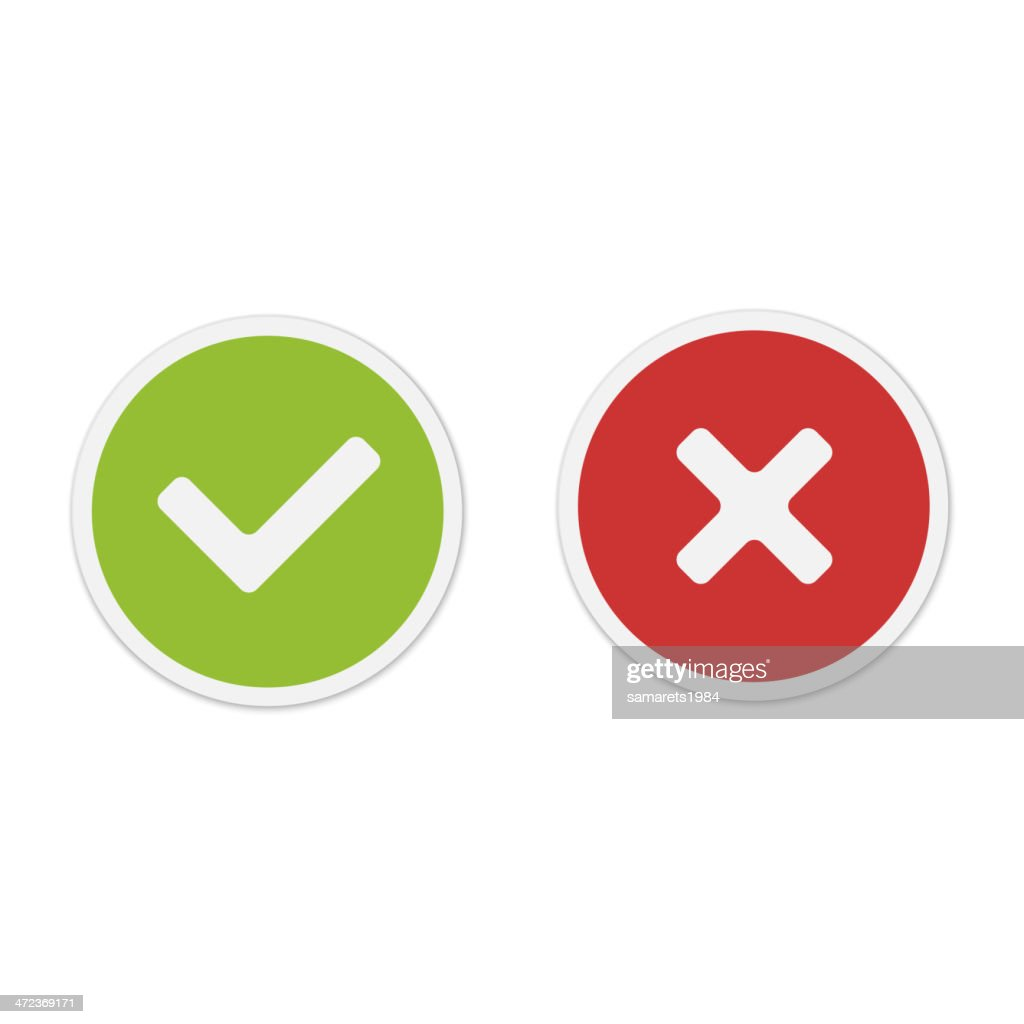 Yes and No icons. Vector.