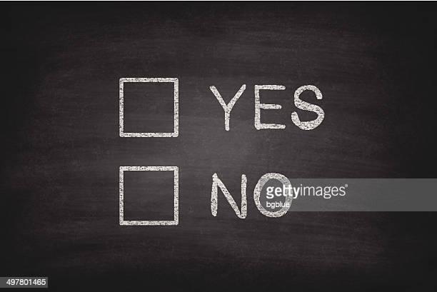 Yes or No Checkboxes on Blackboard - Chalkboard