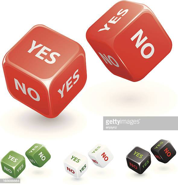 Yes or no dice