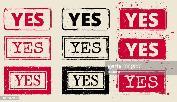 Yes Vector Rubber Stamp Collection