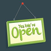 Yes We Are Open Hang Sign