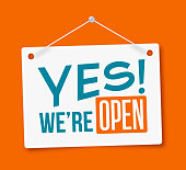 Yes, We're Open! Sign