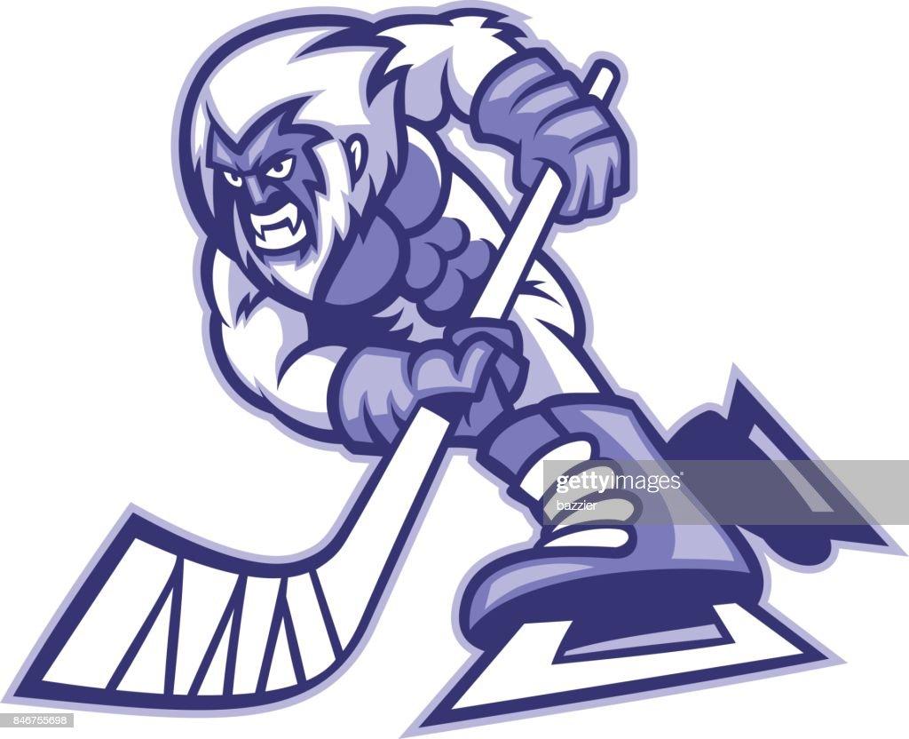 yeti ice hockey mascot