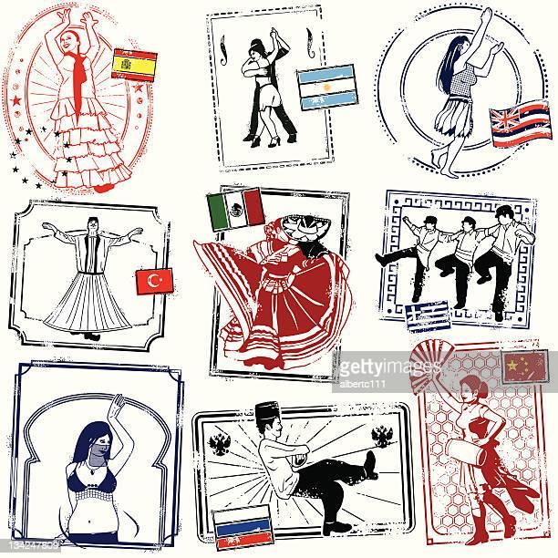 yevrebody dancing now - spanish dancer stock illustrations, clip art, cartoons, & icons