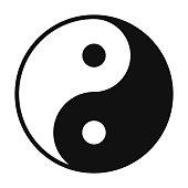 Yin and Yang symbol isolated on white background