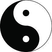 Yin and Yang. Vector Icon.