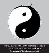 Yin Yang - Artistic Brush Strokes