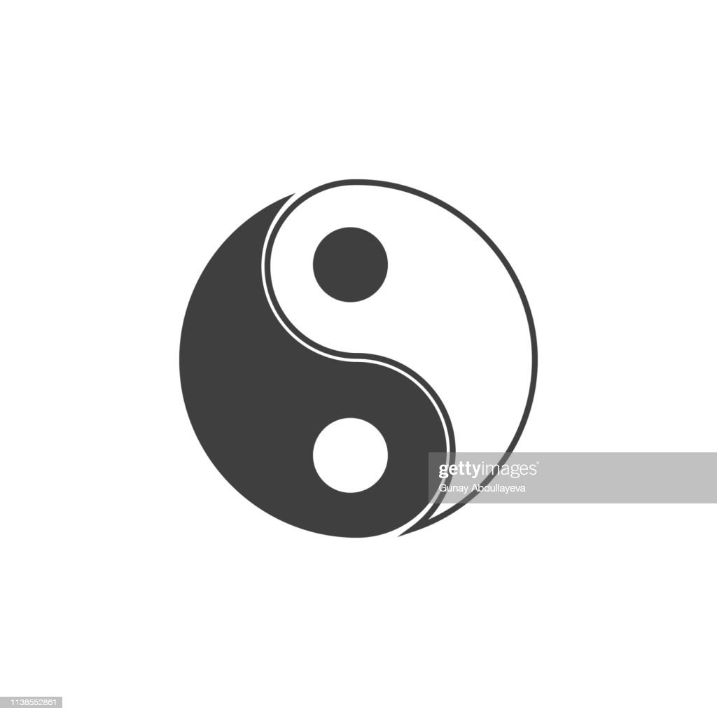 Yin Yang icon. One of the collection icons for websites, web design, mobile app