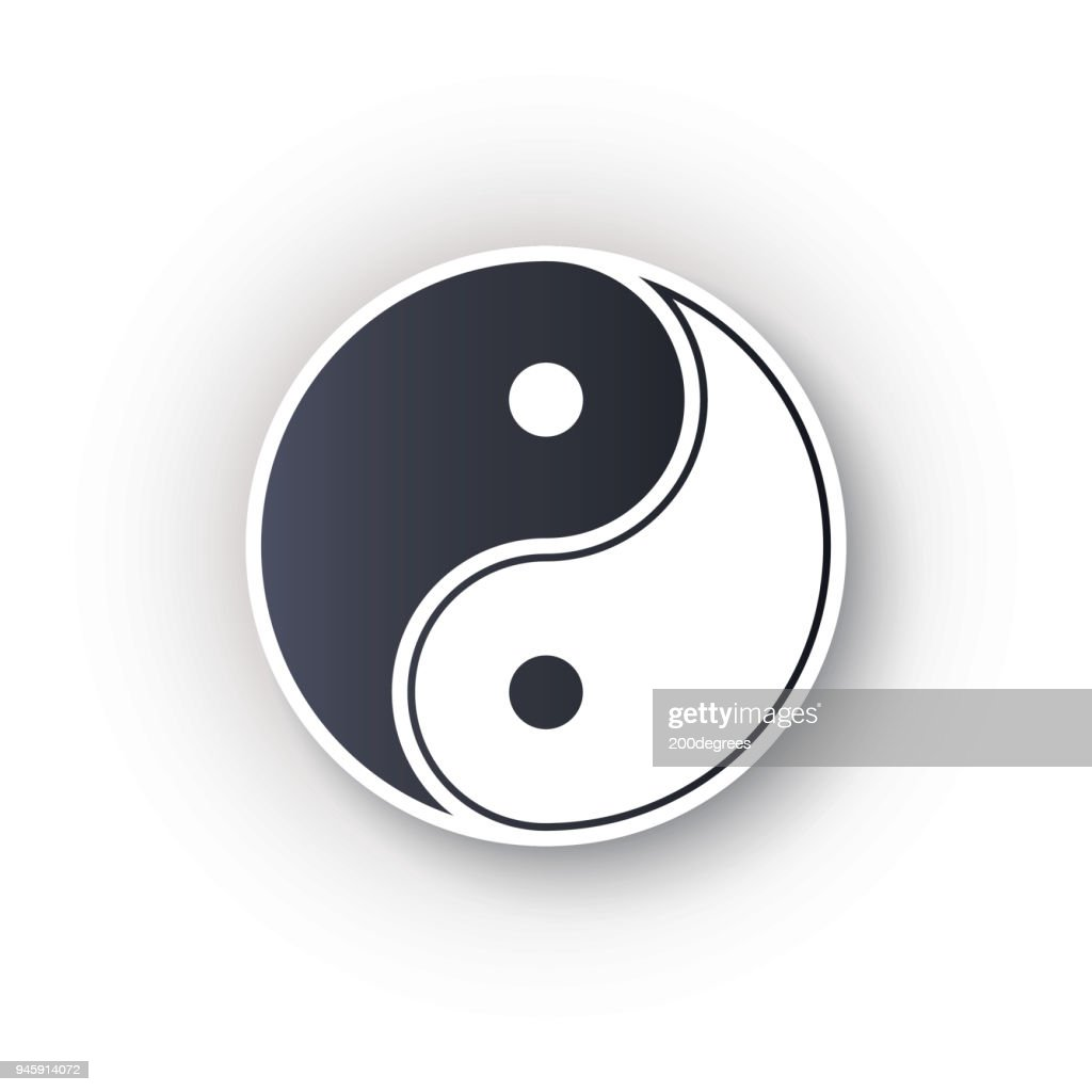 Yin yang logo symbol icon vector illustration