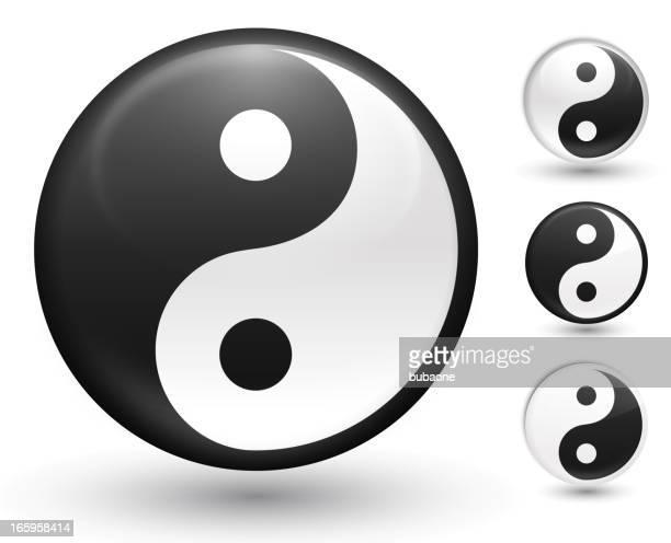 yin und yang-Symbol lizenzfreie vektor-Vektor icon-set